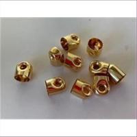 10 Endkappen innen 7mm vergoldet