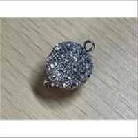 1 Magnetverschluss Straßkugel 14mm silber