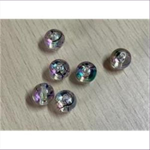 6 Acrylperlen m. Schlieren 6mm cristall
