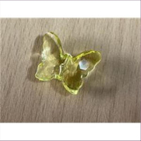 1 Acryl Schmetterling gelb transparent
