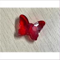 1 Acryl Schmetterling rot transparent