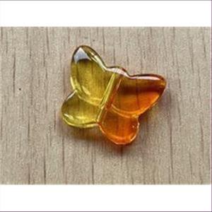 1 Acryl-Schmetterling Perle orange-gelb 2-ton