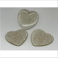 1 Anhänger Acryl Herz gold-klar