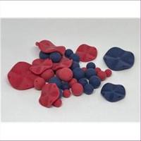 50gr. Perlenmix blau-rot matt