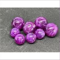 10 runde Acrylperlen lila marmoriert 12mm