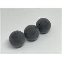 3 runde Acrylperlen matt-schwarz 20mm