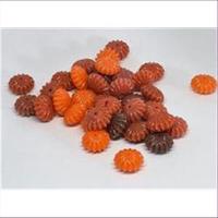 10 Acrylperlen Rillenperlen Orange-Mix
