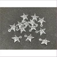 10 Anhänger Acryl Sterne klar