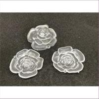 1 Anhänger Acryl Rosenblüte matt-transparent