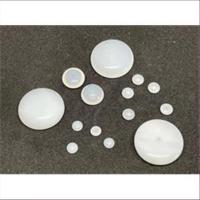 10 Glasperlen 1-Loch-Perlen  flach rund Discweiß