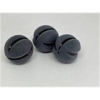 1 Acrylperle Ball mattiert schwarz