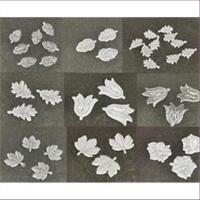 10 Acrylanhänger Blattform Blumenform