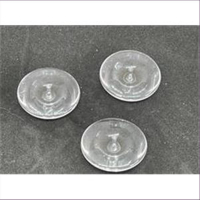 10 Acrylperlen flach rund Disc transparent