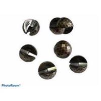 10 Doppelperlen (20tlg.) Metalloptik Kupfer 16mm