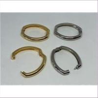 1 ovaler Kettenverschluss Perlenkettenverkürzer platin