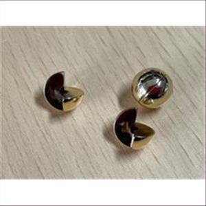 1 Doppelperle (2tlg.) gold 13mm
