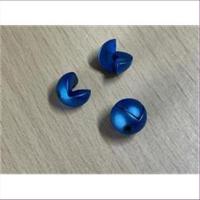 1 Doppelperle (2tlg.) mattblau 10mm