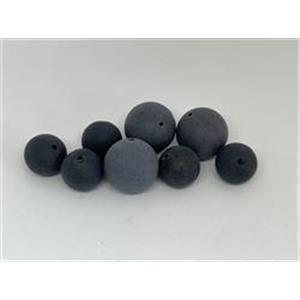 2 Acrylperlen schwarz matt
