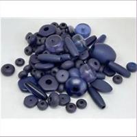 200gr.  Acrylperlen gemischt dunkelblau