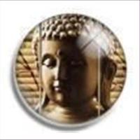 1 Cabochon rund Buddha