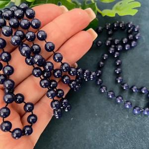 1 Perlenkette 6mm Acrylperlen