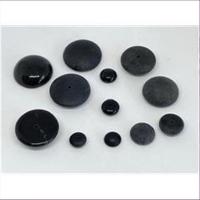 10 Glasperlen Endperlen 1-Loch-Perlen schwarz
