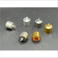 10 Endkappen mit Öse 8,5mm / 10mm