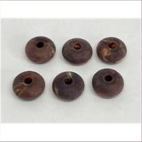 2 Acrylperlen Donut  mattiert braun marmoriert