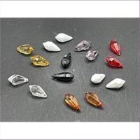 10 Acryltropfen Perlen Anhänger  rot transparent