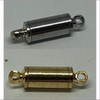 1 Magnetverschluss schmal 14,5x4mm silberfarbig platin