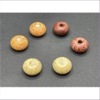 5 Acrylperlen rund flach Drops  dunkelbraun
