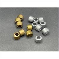 10 Acrylperlen Ringe metallic