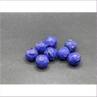 10 Acrylpelren royalblau marmoriert