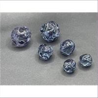 1 Acrylperle Wellenperle blau transparent 13mm