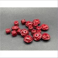 20gr. Acrylperlen Mix dunkelrot