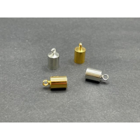 10 Endkappen Endteile 4mm innen silberfarbig