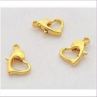 3 Herz Carabiner vergoldet