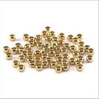 100 Quetschperlen Schmelz glatt Nr. 18 vergoldet