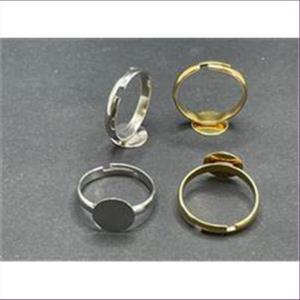 5 Fingerringe mit runder Klebeplatte 10mm