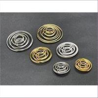 1 Drahtspirale Drahtperle 15mm vergoldet