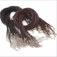 5 Halsketten Lederketten 2,0mm dunkelbraun