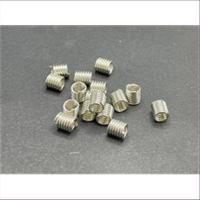 10 Spiralen ohne Öse 6x5mm platin