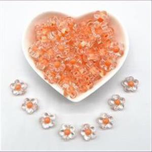 10 Acrylperlen Blumen Blüten orange