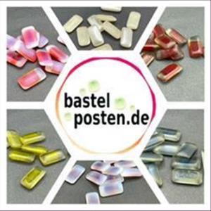 10 Bastelsteine rechteckig  16x8,3mm