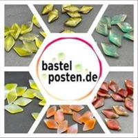 10 Bastelsteine Raute  18,5x10,5mm