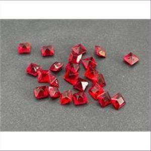 20 Bastelsteine quadratisch 6x6mm rot