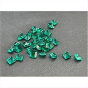 20 Bastelsteine quadratisch 6x6mm petrol grün