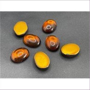 5 Bastelsteine oval 20x15mm braun