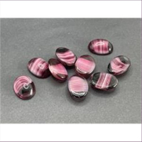 5 Bastelsteine oval 17,5x13mm lila