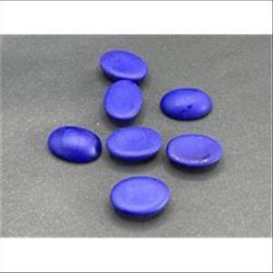 5 Bastelsteine oval 17,5x13mm mattblau